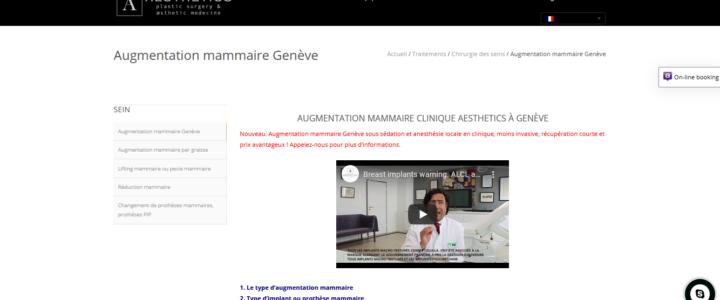 Augmentation mammaire Genève Suisse